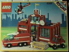 Lego 6389 Vintage Fire Control Center - - Brand New in Opened Box Lego City Fire Truck, Lego City Fire Station, Lego City Police, Fire Trucks, Lego Basic, Lego Fire, Lego System, Vintage Lego, Star Wars Minifigures