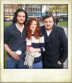 Kit Harington, Rose Leslie, and John Bradley