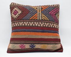 handwoven kilim pillow sofa pillow ethnic pillow home Kilim Pillows, Kilim Rugs, Cushions, Throw Pillows, Pillow Inserts, Pillow Covers, Hand Weaving, Ethnic, Cushion Pillow
