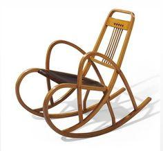 Thonet-Der Pionier der Bugholzmöbel Anfang des 20. Jahrhunderts.Dieser Schaukelstuhl ist eine Variante des Modells No.511
