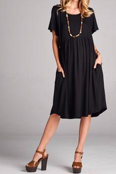 Baby Doll Dress - Black