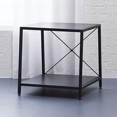 harvey carbon grey nightstand   CB2