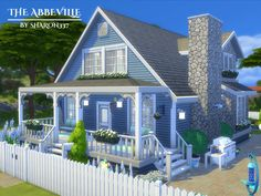 The Abbeville is a family home built on a 30 x 20 lot in Windenburg on the Pier Palace Lot. Found in TSR Category 'Sims 4 Residential Lots'