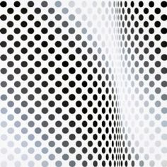 Pause - Bridget Riley 1964 - Emulsion on board 115.5x116  Op Art captured the imagination of the public and became part of the swinging sixties. The fashion, design and advertising industries fell in love with its graphic, sign-like patterns and decorative value. Bridget Riley became Great Britain's number one art celebrity.