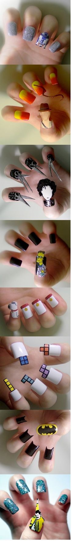 Click to see more pics... Such cool nail art!