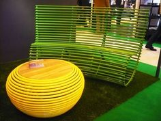 Love this outdoor bench by Kirv, but I'll wait until Ikea comes out with its version...$$$!!!!