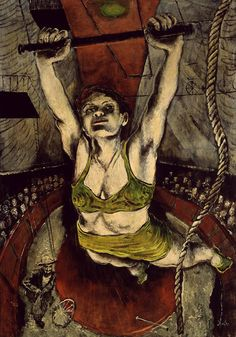 Karl Zerbe (Allemagne, 1903-1972) – Woman on a Trapeze (1946)  Blanton Museum of Art, Austin, Texas.