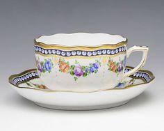 ヘレンド 真珠の首飾 ティーカップ&ソーサー