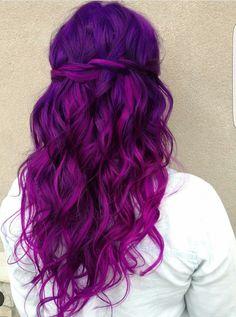 purple hair knallige haarfarben pinterest bunte haare lila haare und haar ideen. Black Bedroom Furniture Sets. Home Design Ideas