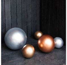 Fiberglass Spheres, Custom Colors - Luxe and Large - Our Products Gold Leaf Design Group