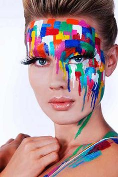 Inspired by melted crayons. One of my fave make up looks I've created ❤ www.MelissaAnchondo.com