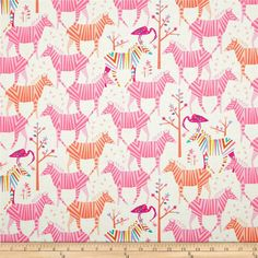 Show Your Colors Confection Zebras from Michael Miller's Origami Oasis Collection