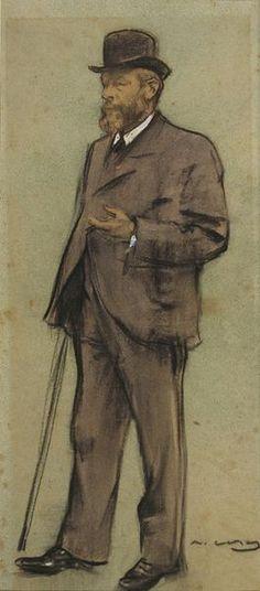 The Athenaeum - Portrait of Albrecht de Vriendt (Ramon Casas y Carbó - )