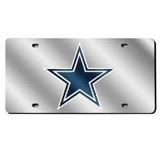 Dallas Cowboys Mirror License Plate Laser Tag #RicoIndustries #DallasCowboys #JockUniversity