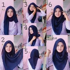 Best how to wear hijab tutorials headscarves ideas Best how to wear hijab tutor. Best how to wear hijab tutorials headscarves ideas Best how to wear hijab tutorials headscarves id Tutorial Hijab Segi 4, Square Hijab Tutorial, Simple Hijab Tutorial, Hijab Style Tutorial, Hijab Dress, Muslim Dress, Hijab Outfit, Turban Hijab, Stylish Hijab