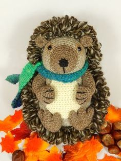 Hedley the Hedgehog Amigurumi Crochet Pattern. by mojimojidesign