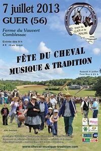 Fête du cheval, musique et traditions. Le dimanche 7 juillet 2013 à Guer.