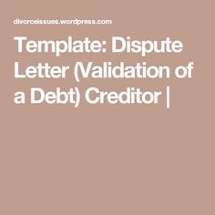 Debt Collector Sample Resume Gorgeous Sample Debt Validation Letter  Resumes Design  Credit  Pinterest .