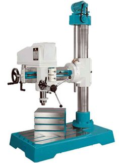 Drilling machine is basically used to drill the holes on the solid metal pieces.  http://www.machinedock.net/bench-pillar-drilling-machine