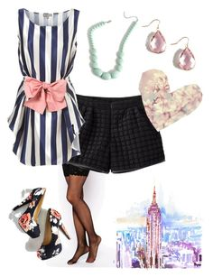 """""""Dreamy Stripe"""" by petite-stray-femme ❤ liked on Polyvore featuring Wolford, stripes, pastels and Shortsandtights"""