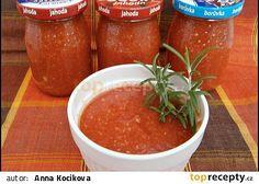 Rajčatové pyré s pečeným česnekem recept - TopRecepty.cz