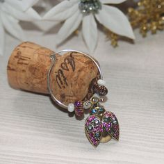 Ladybug wine charms set of 4 garden party wine charm by Teakberry