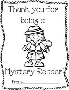 Mystery Readers Coloring Sheet Freebie
