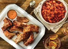 Sweet Onion Ribs with Maple Baked Butter Beans from Publix Aprons - LOVED the baked butter beans!!