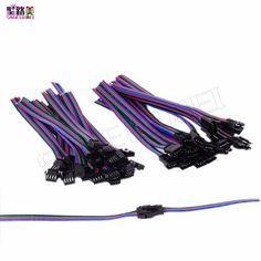2pin 3pin 4pin led connecteur Mâle/femelle JST SM 2 3 4 Broches Connecteur Fil câble pour led bande lumière Lampe bande Pilote CCTV
