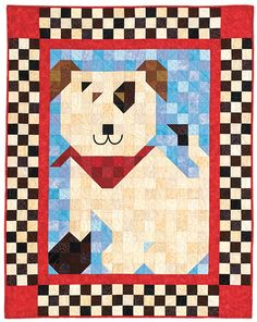 Ruff Patch, #3 in the Patch Pals Collection, designed by Denise Starck and QM staff. Seen in May/June '11.