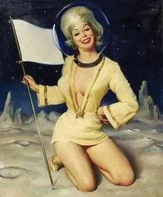 Vintage space woman