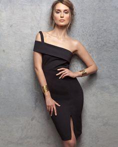 A seriously sexy LBD... Nicholas Backless Ponte Wrap Dress | Shop IntermixOnline.com