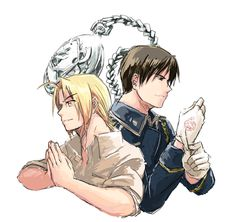 Edward Elric and Roy Mustang by http://www.pixiv.net/member.php?id=673214