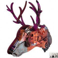 colorful deer head