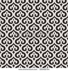 Seamless abstract floral pattern.  Decorative lattice in the Moroccan style. Vector illustration.