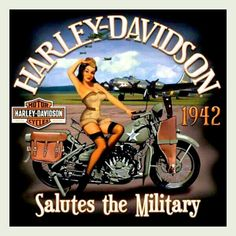 And I return the salute! WWII sweetie pie on a Harley, a Patriot of the highest order!