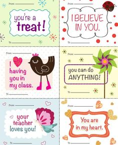 Valentines from your teacher