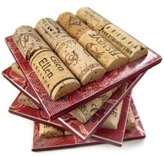 wine cork coasters (but make into a trivet with something as a backing)