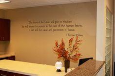 Thomas Edison Quote at Cedar Park Chiropractic