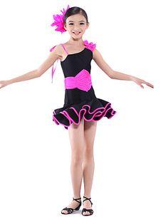 Dancewear spandex Latinalainen tanssi mekko lapsille – EUR € 31.99