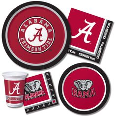 10 Best University Of Alabama Party Tableware Images Alabama