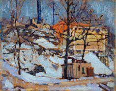 Tom Thomson Catalogue Raisonné | Twilight, Winter 1916–17 (1916-1917.04) | Catalogue entry