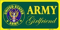 U.S. Army Girlfriend License Plate