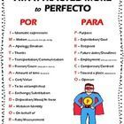 Finally an easy way to keep Por and Para straight!  Let the students SEE the difference with pictures!  This is a concise study tool for students l...