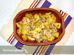 Piept de pui la Vas Roman Cauliflower, Roman, Cooking Recipes, Vegetables, Food, Salads, Cauliflowers, Chef Recipes, Essen