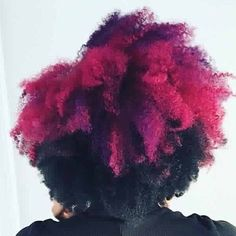 Vivids magenta purple natural hair with flat twist out instagram.com/weena_hairstylist