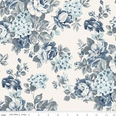 "108"" Inch Cream Floral Wide Quilt Back Fabric, Tranquility WB9609-CREAM, Blue Taupe Cream Wide Quilt Backing Fabric, One 1 Yard Cut Bty by Jambearies on Etsy"