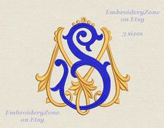 Double antique monograms from old books M&S. от EmbroideryZone