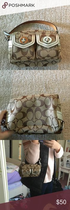 ⚡️⚡️ COACH BAG⚡️⚡️ AMAZING CONDITION 100% authentic small coach bag! This bag was used once and looks brand new!! Coach Bags Mini Bags