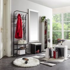 Schuhschrank in Weiß online bestellen Modern Living, Oversized Mirror, Furniture, Home Decor, Cloakroom Basin, Interior Design, Contemporary Home Design, Home Interior Design, Arredamento